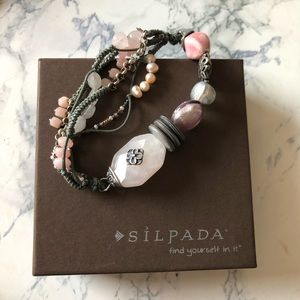 Silpada Rose Quartz Stretch Bracelet